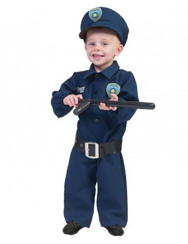 Déguisement policier bleu bébé