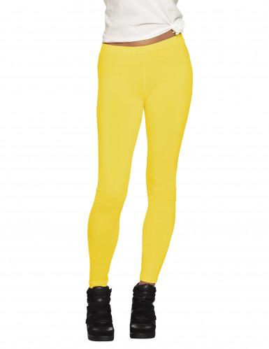 Legging jaune fluo adulte