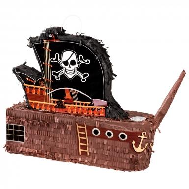 Piñata bateau de pirate 50 x 45 cm