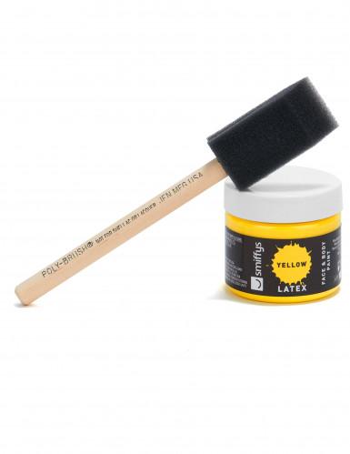 Maquillage latex liquide jaune avec éponge 59 ml-2