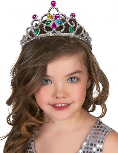 Diadème princesse serti multicolore adulte et enfant-1
