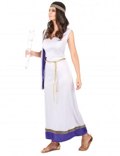 Déguisement Romaine longue violette femme