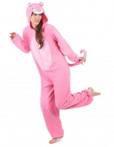 Combinaison à capuche panthère rose femme-1