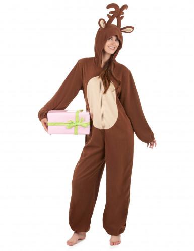 Combinaison à capuche renne femme