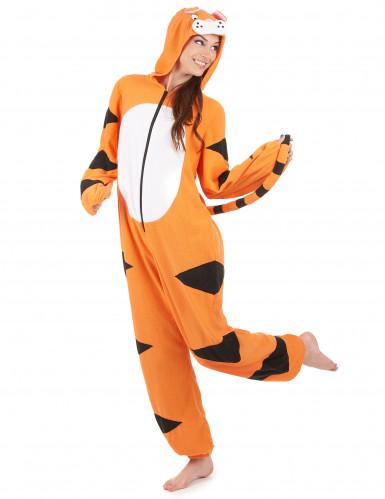 Combinaison à capuche tigre femme-1