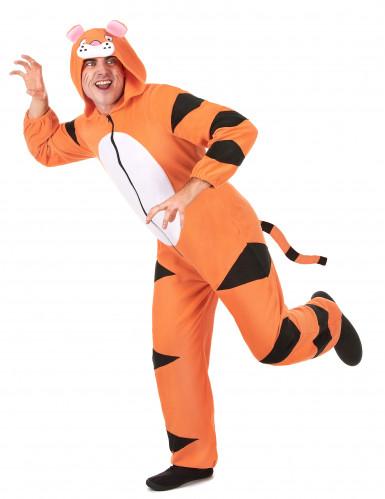 Combinaison à capuche tigre homme-1