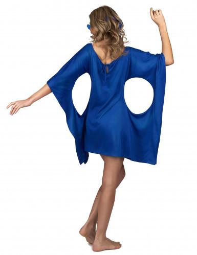 Déguisement robe hippie bleue peace & love femme-2