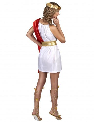 Déguisement romaine rouge et or femme-2
