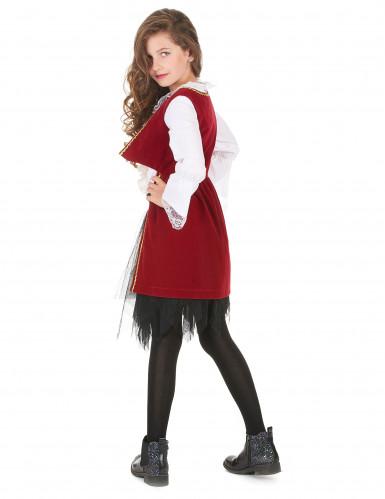 Déguisement pirate velours rouge pourpre et noir fille-2