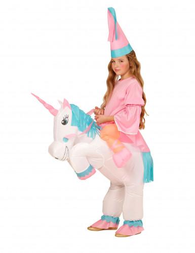 Déguisement princesse à dos de licorne gonflable fille-1