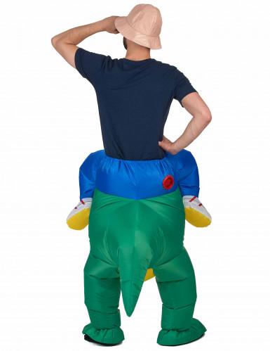 Déguisement explorateur à dos de dinosaure adulte-2