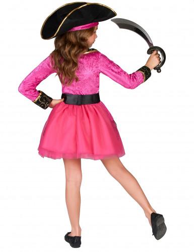 Déguisement Pirate rose et or fille-2