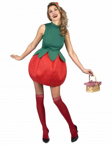 Déguisement robe fraise femme