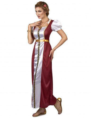 Déguisement princesse Guenièvre médiévale femme-1