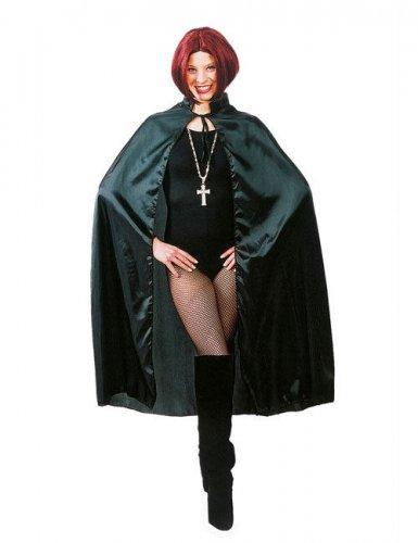 Cape satinée noire 136 cm Halloween