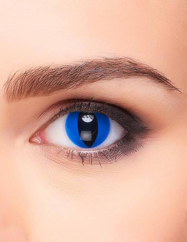 Lentilles fantaisie oeil reptile bleu adulte