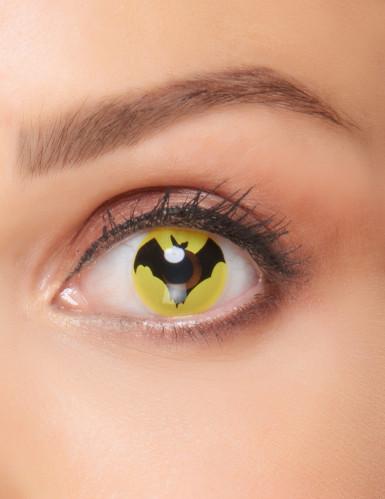 Lentilles fantaisie chauve-souris noire adulte Halloween