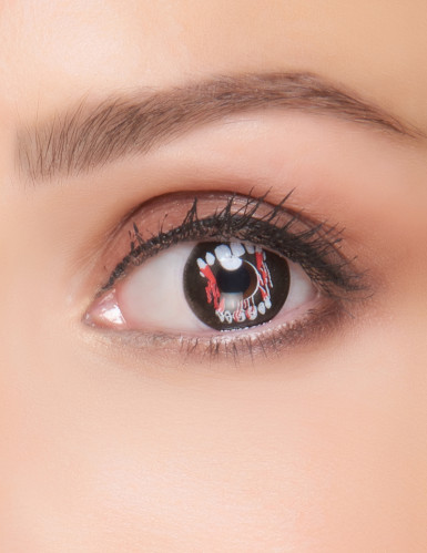 Lentilles fantaisie dents de vampire adulte Halloween