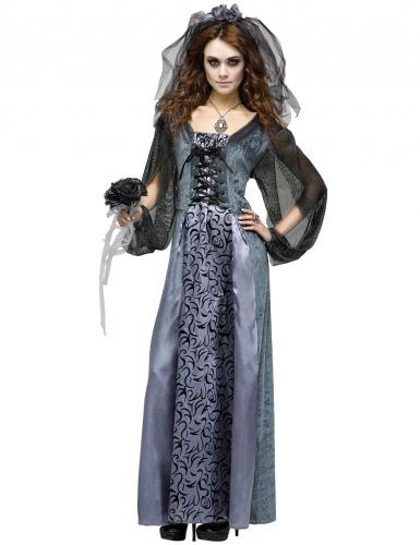 Déguisement Halloween femme mariée-zombie