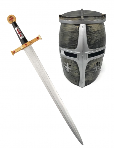 Epée et casque chevalier guerrier enfant