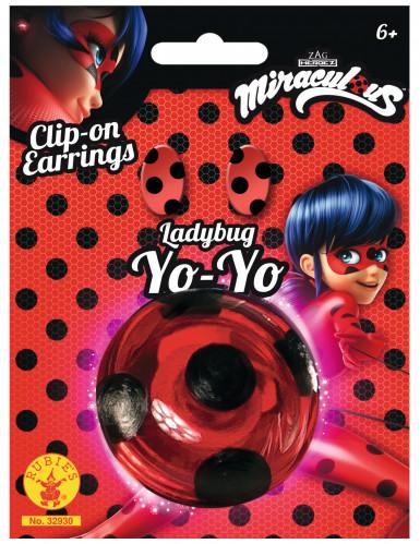 Kit Yoyo  et Boucles d'oreilles Lady Bug™ fille-1