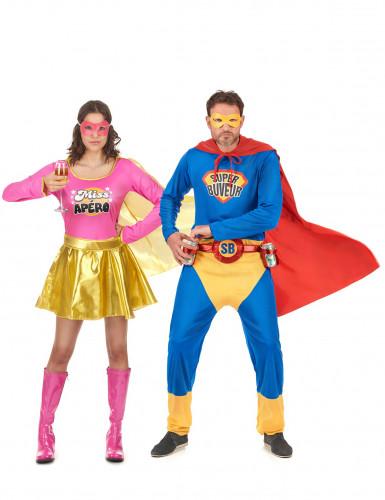 Déguisement de couple Super Buveur et Miss Apéro