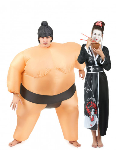 Déguisement de couple Sumo et Geisha