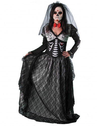 Déguisement comtesse squelette femme Dia de los muertos