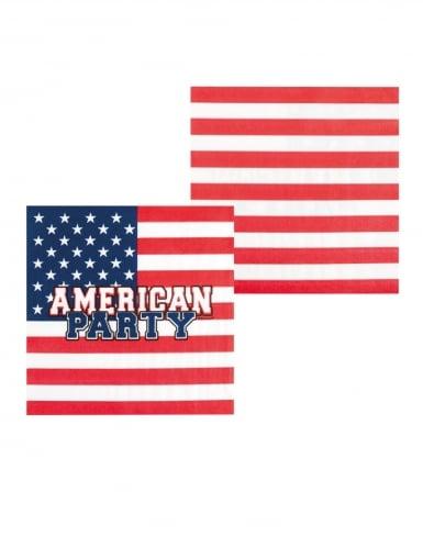 6 Gobelets en carton American party 25 cl