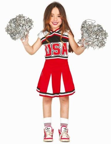 Déguisement pompom girl USA fille