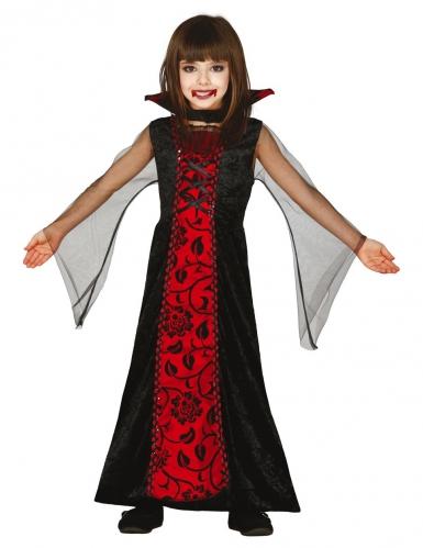 Déguisement comtesse des ténèbres fille Halloween