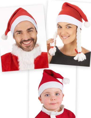 Pack famille bonnets Père Noël