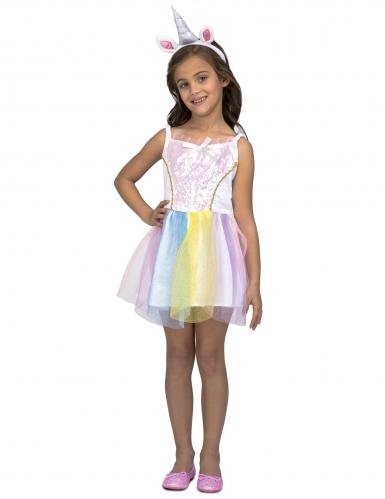 comparer les prix livraison rapide grande variété de styles Déguisement robe licorne arc-en-ciel fille