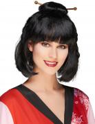 Peluca negra china para mujer