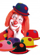 Chapeau de clown � pois adulte