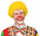 Perruque afro jaune de clown adulte
