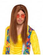 Peluca de hippie marr�n para hombre