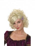 Perruque courte fris�e blonde femme