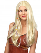 Perruque hippie blonde adulte