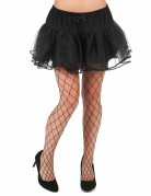 Collants mailles noires adulte