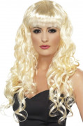 Perruque sir�ne boucl�e blonde femme