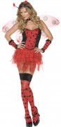 Frilly sexy ladybug costume for women