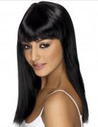 Vous aimerez aussi : Perruque longue noire � frange  femme