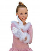 Weisse Prinzessin-Handschuhe f�r Kinder