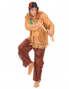 Pale Red Indian costume for men