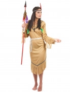 Pale Red Indian costume for women