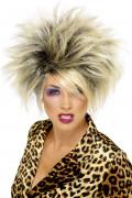 Perruque blonde sauvage femme