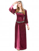 Medieval queen costume for women