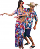 Hawaiian tourists costume for couples