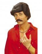 Peluca y bigote de Casanova para hombre